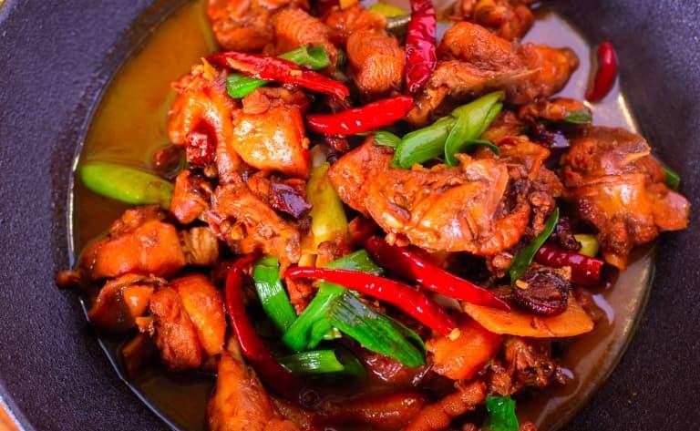 Dîner dans un restaurant Sichuanais (Shanghai)