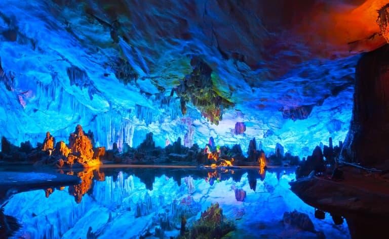 La grotte de la flûte de Roseaux, la colline de Fubeau et la colline en trompe d'éléphant, le Bund et la rue de Nanjing